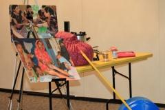 Items on display at Betsy Teutsch's presentation