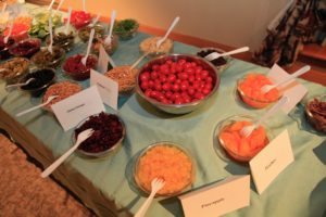 Temple Israel_latke and salad bar