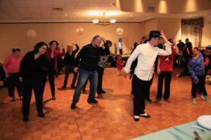 TI-JCC Hanukkah party dance lesson