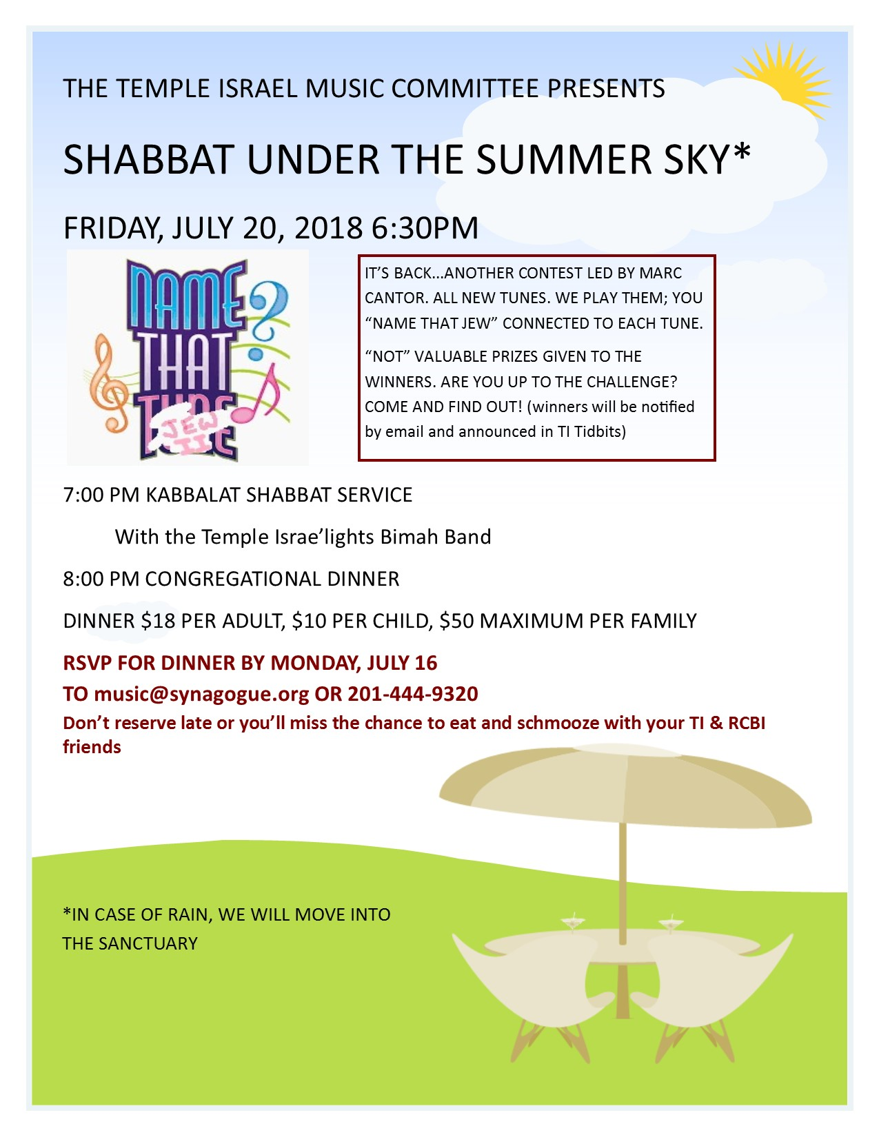 Shabbat Under the Summer Sky