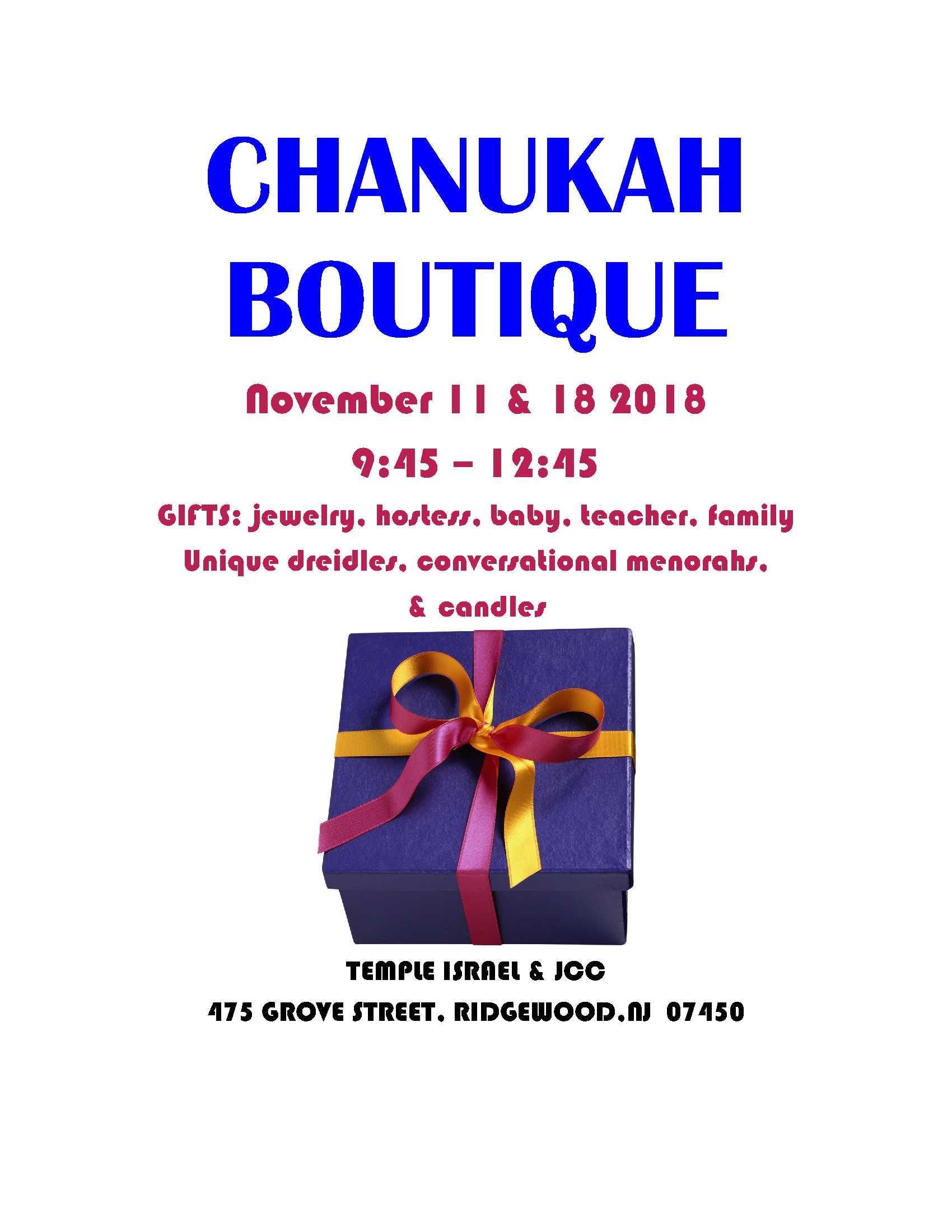 Chanukah boutique sale