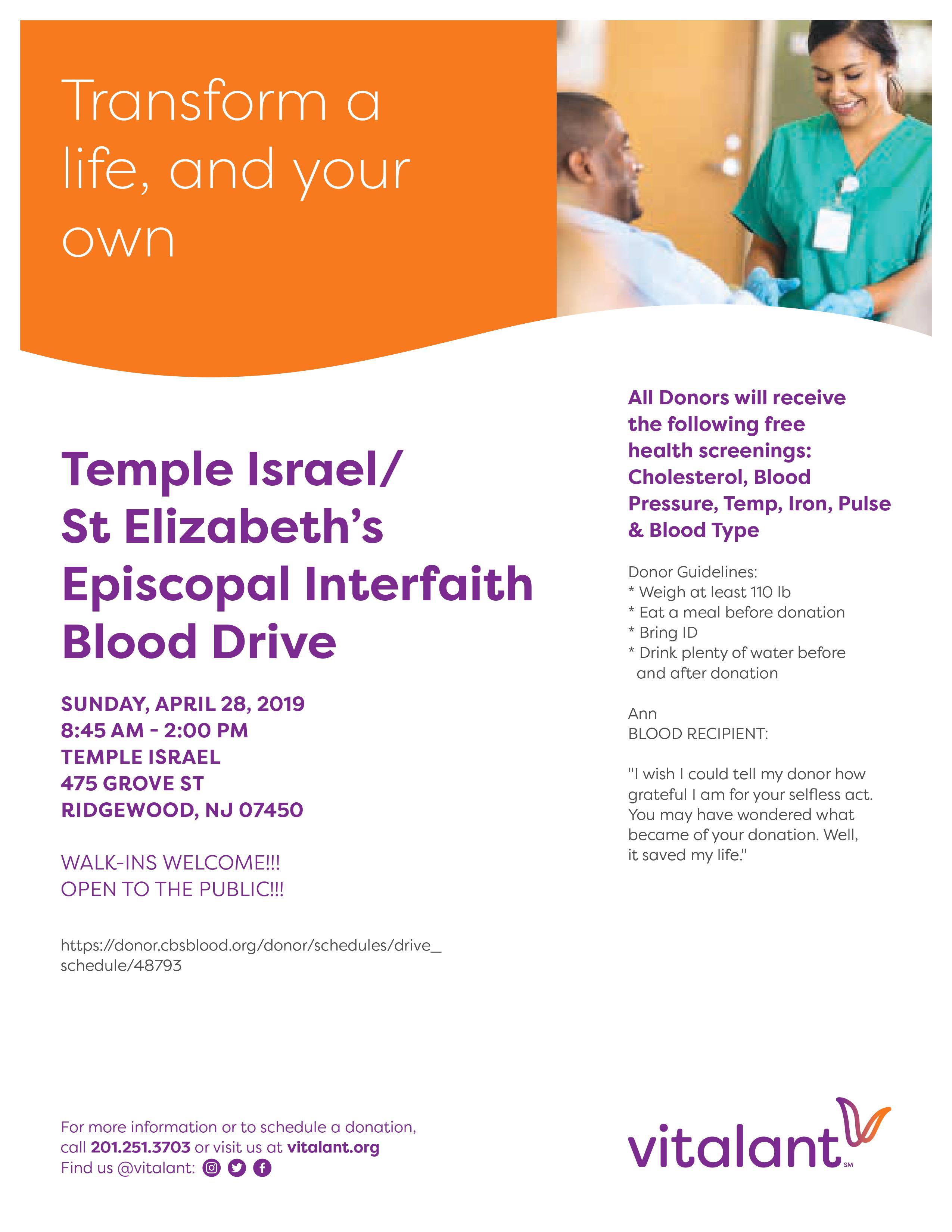 Interfaith blood drive