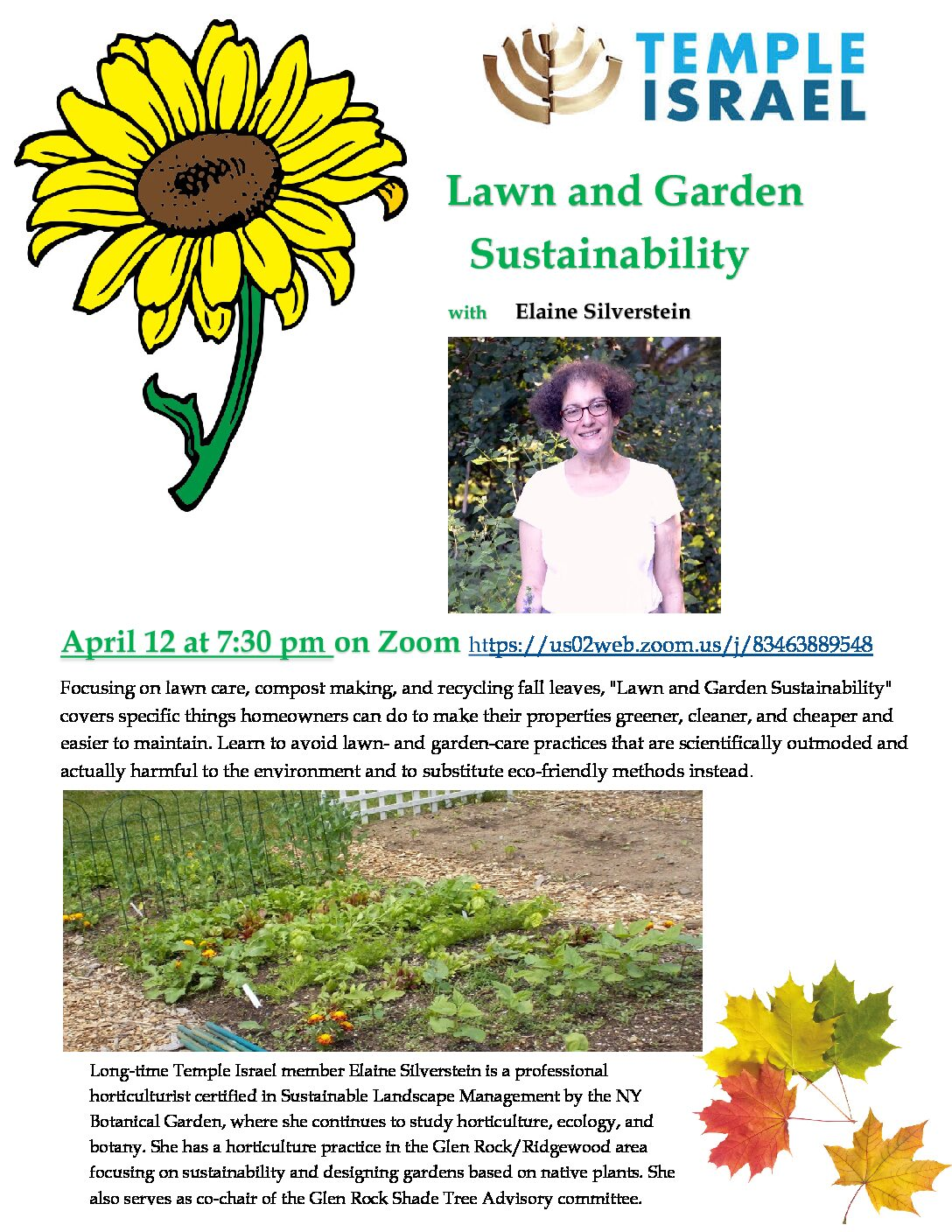 """Sustainability in the Home Garden"" by Elaine Silverstein"