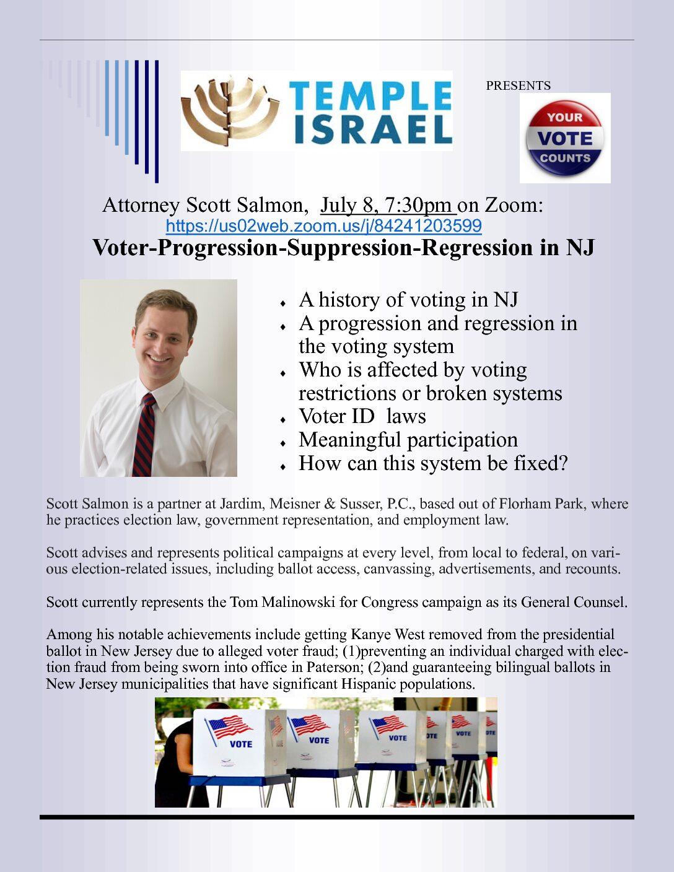 Lecture: Voter-Progression-Suppression-Regression in NJ